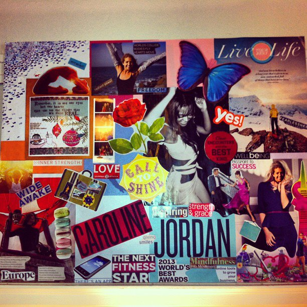 Year of YES vision board January 2013