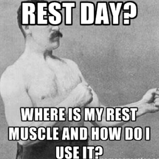 rest day funny image