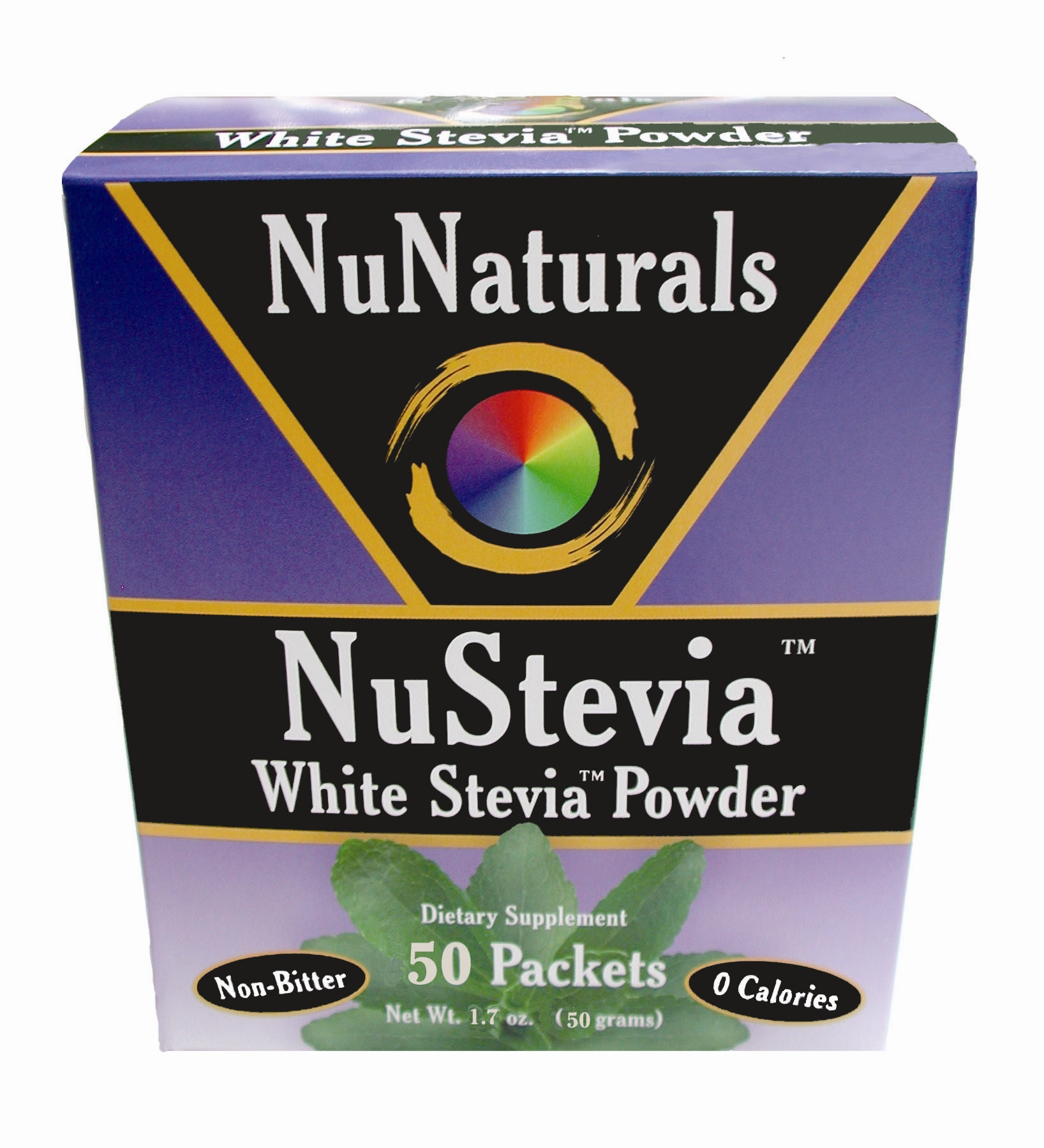 NuStevia 50 Packets Top Angle