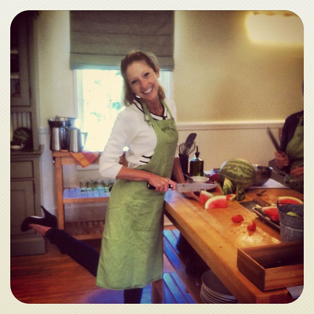 Cooking up a Healthy Lunch during a corporate wellness offsite at Cavallo Point in Sausalito