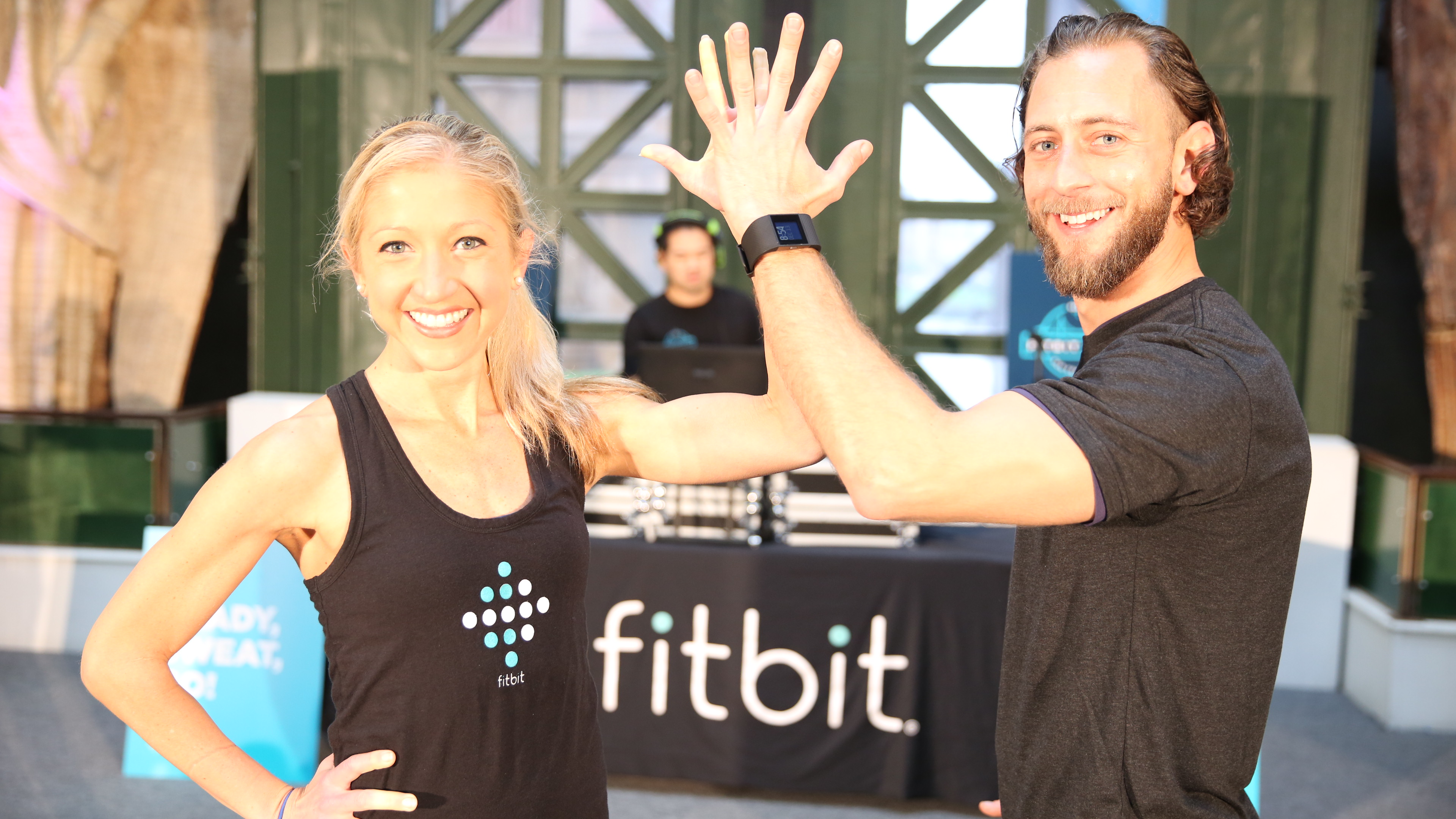 San Francisco Fitbit local ambassadors: Jeremy Falk and Caroline Jordan