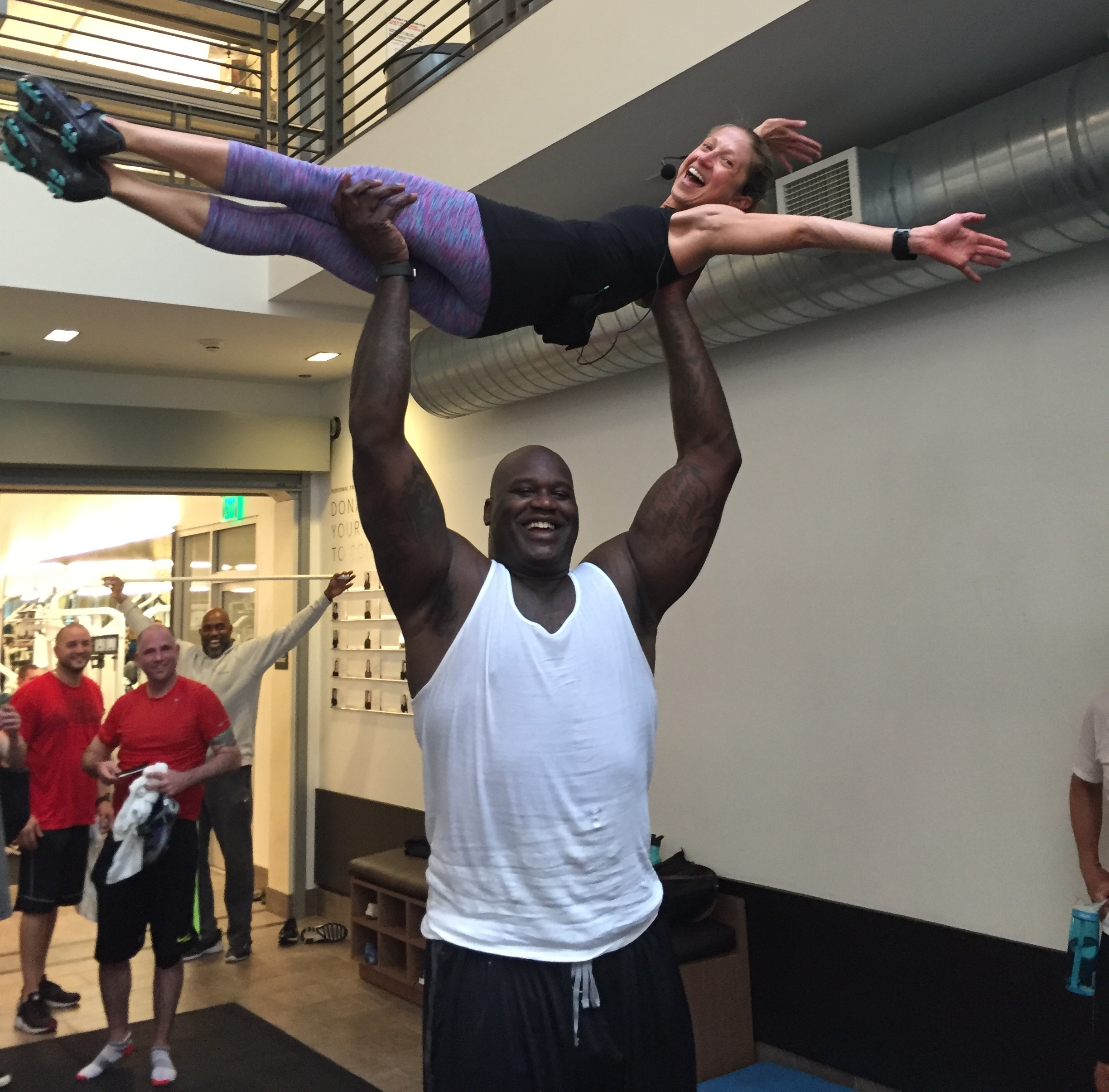 SHAQ in spin class